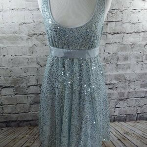 Betsey Johnson Evening sequin mesh party dress